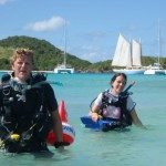 Dive lesson in the Tobago Cays