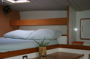 our sailing catamaran charter bedroom